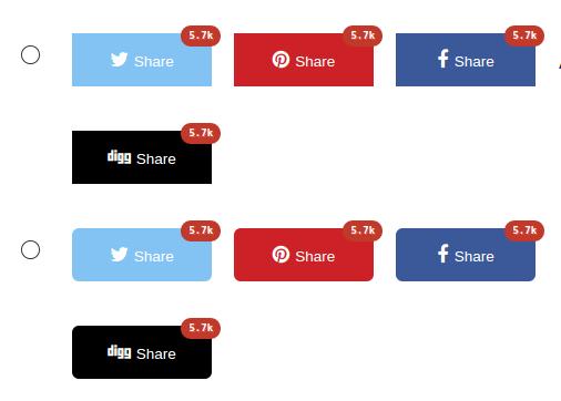 Результат настройки плагина Social Share Buttons by Supsystic