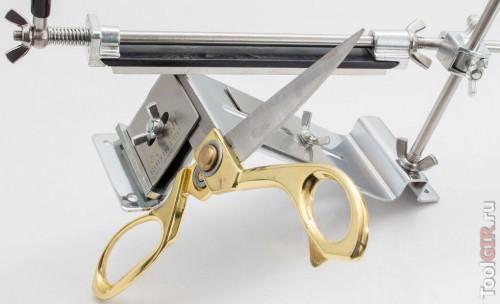 Заточка ножниц на точилке