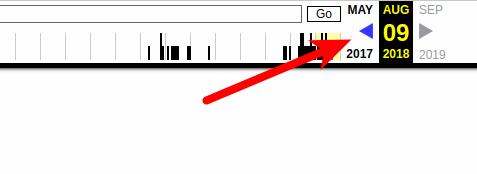 Навигация по снапшотам сайта в архиве